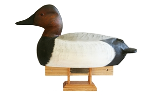 Wooden Canvasback Drake Decoy Urn